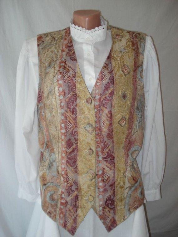 VINTAGE Long WAISTCOAT Verse Elegant Costume